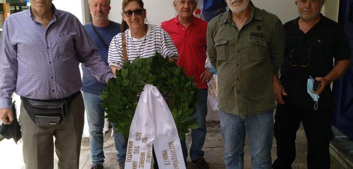 Καταθέσαμε και φέτος στεφάνι προς τιμήν των εκτελεσμένων απεργών της Κωλέττη απ' τους ναζί…